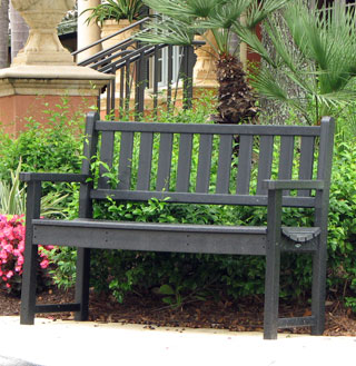 traditional clubhouse bench