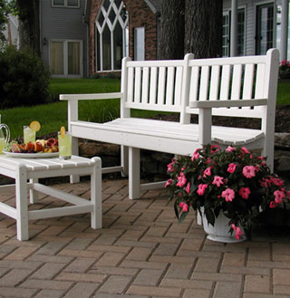 recycled plastic garden bench