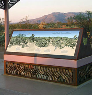 park interpretive sign