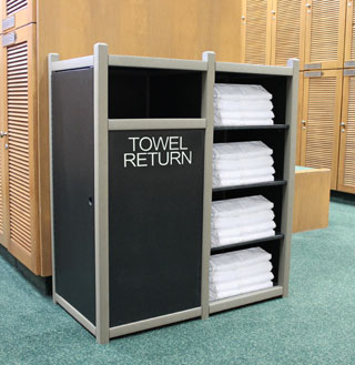 towel return cabinet