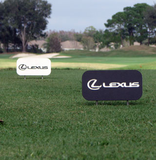 routed plastic tee markers